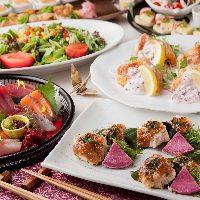 お得な価格で飲み放題付の和食コースをご用意しております。