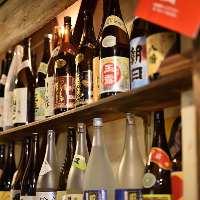 【種類も豊富】 メニュー表に載っていない旬の日本酒もご用意