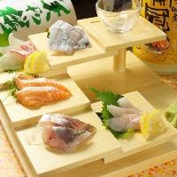 広島中央市場から毎日仕入れ 「お造り盛り合わせ」はおすすめ!