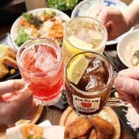 ミライザカ人気の宴会コースはゆったり150分飲み放題付き♪