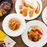 選べる5種のパスタとオーダー制食べ放題