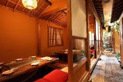 鉄板付の完全個室で鉄板焼きを 楽しめる贅沢…