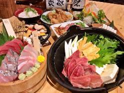 山口食材を使用した宴会コース 写真は飲み放題付4000円プラン♪