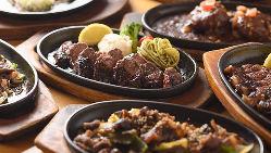 気軽に美味しいお肉屋さんの鉄板ステーキ!
