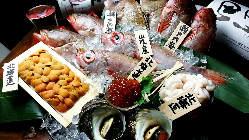 市場直送の新鮮な魚を使った和の会席料理をご提供。