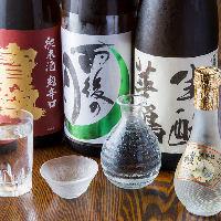 広島地酒『雨後の月』や金粉入りの『賀茂鶴』など銘酒をご用意