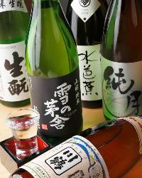 厳選された地酒を各種ご用意