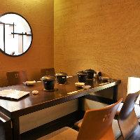 【個室完備】 落ち着いた雰囲気が漂う中ごゆっくりとお食事を