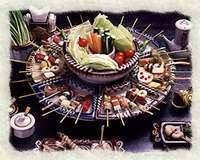 肉・魚・野菜など旬の食材が80種以上、飽きないパフォーマンス