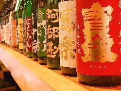 全国から 取り揃えた日本酒