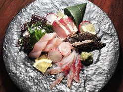 いおり亭では毎日仕入れした新鮮な食材を使用しております。