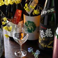 季節の食材にあわせる日本酒もたくさんございます