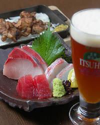 瀬戸内の鮮魚を中心に厳選!まずはお刺身で一杯どうぞ♪