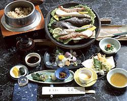 瀬戸内の魚が楽しめるコース。 5,000円税別あさぎりコース