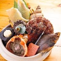 【新鮮魚介】 プロが目利きした旬の鮮魚だけを使っています