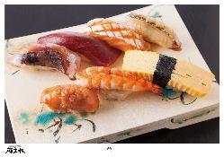 ▼こだわりの江戸前寿司
