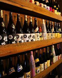 【約200種】 豊富な焼酎と日本酒を堪能できます!