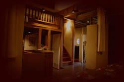ロフトのような中二階の座敷は大人の落ち着いた雰囲気で☆