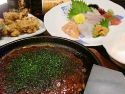 だぼ自慢!関西風お好み焼きが食べられるコース!