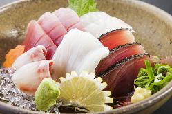 朝採れ鮮魚の刺身がいな盛り!!