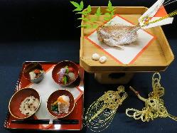 日本の伝統文化にのっとった「お食い初め」の本膳も対応可能。