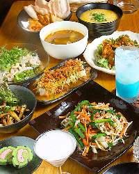 ノンアルカクテルまで飲み放題の コース料理は大人気です。