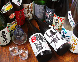 日本酒の品揃えには自信があります。