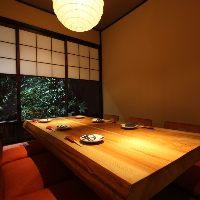 中庭付きの離れ個室は特別なお食事のお席におすすめ