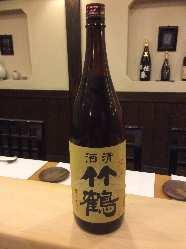 自慢の地酒!! 竹鶴、誠鏡、龍勢