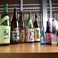 店主厳選の日本酒。広島の地酒はもちろん、全国津々浦々より。