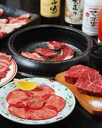 黒毛和牛が食べ放題のコースもございます。
