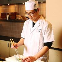 【料理長】 京都で修業後、岡山の日本料理「一扇」で10年修業