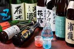 お酒の種類も豊富。ゆっくり飲んでください。