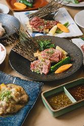 【逸品】肉割烹ならではの逸品をコースで堪能ください!