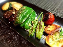 倉敷・岡山県産にこだわった野菜は直接農家から仕入れています!