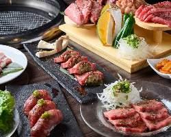 【焼肉宴会】 種類豊富な飲み放題付で楽しめるお得なコース