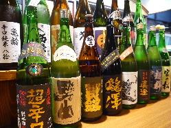 こだわりぬいた日本酒のラインナップ♪