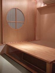 落ち着いた掘りごたつ席の個室