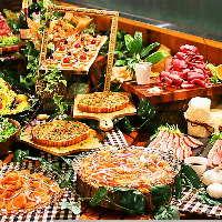 パーティシーンを盛り上げる華やかな料理もご用意。