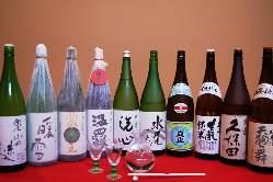 地酒・日本酒なども豊富にご用意。