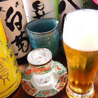 地元岡山の地酒を中心に、お酒をご用意。