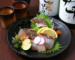 美味しい魚と美味しいお酒で乾杯!