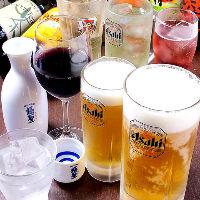 飲み放題付のご宴会コースもございます。