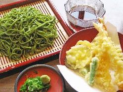 茶そば天ぷらセット