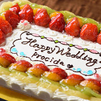 結婚式二次会や記念日に。デザートやウエディングケーキのご用意も可能
