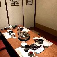 個室のお席は接待・宴会等にも最適です。