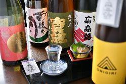 広島の地酒を常時44種類を取り揃え。広島の満喫ください。