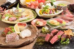 オーナー自ら目利きをた厳選なお肉と魚介。極上のワインと共に…