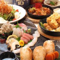 地元の新鮮な食材を使った 料理長自慢のお料理の数々◎