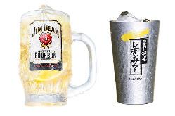 ジムビームハイボール レモンサワーなんと一杯150円